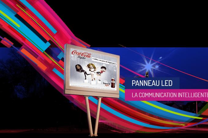 On a acheté notre panneau LED sur http://www.prismaflex.com