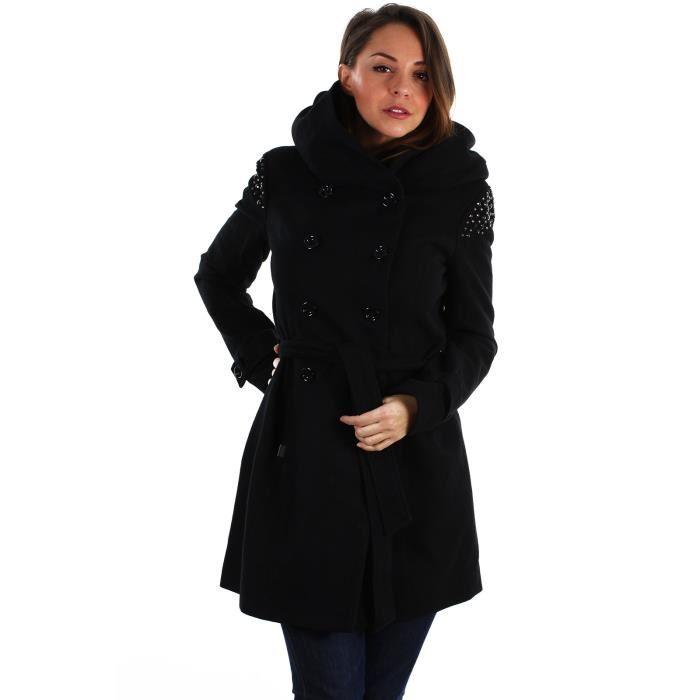 manteau femme noir cintre. Black Bedroom Furniture Sets. Home Design Ideas