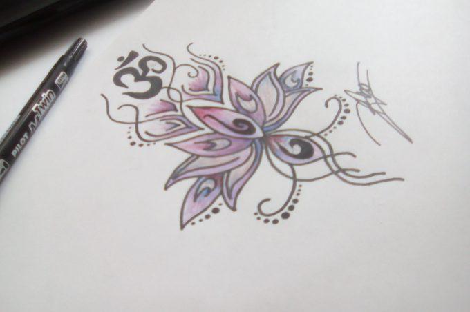 Comment dessiner une fleur de lotus ?
