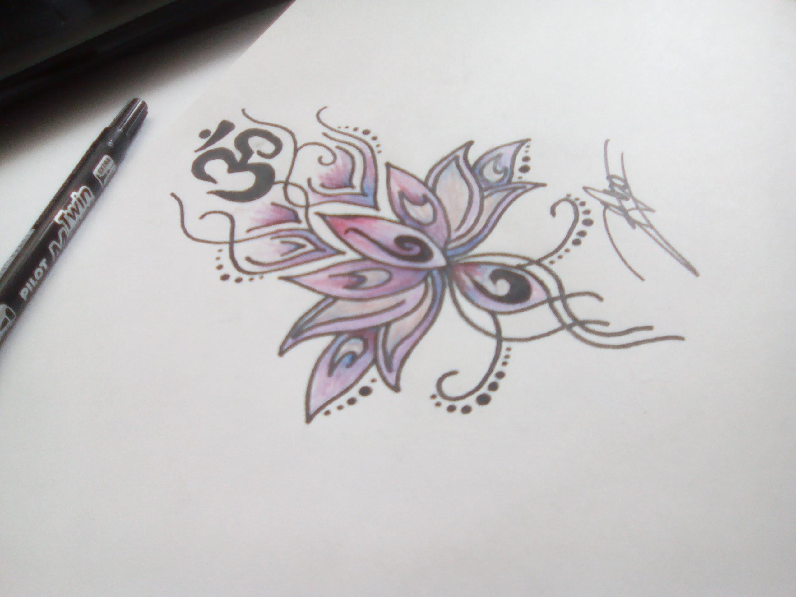 Comment dessiner une fleur de lotus - Photo de fleur a dessiner ...